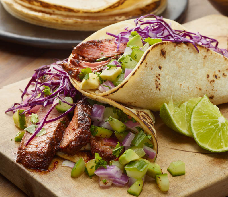 Chilli Rubbed Steak Tacos