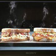 hot sandwich food styling
