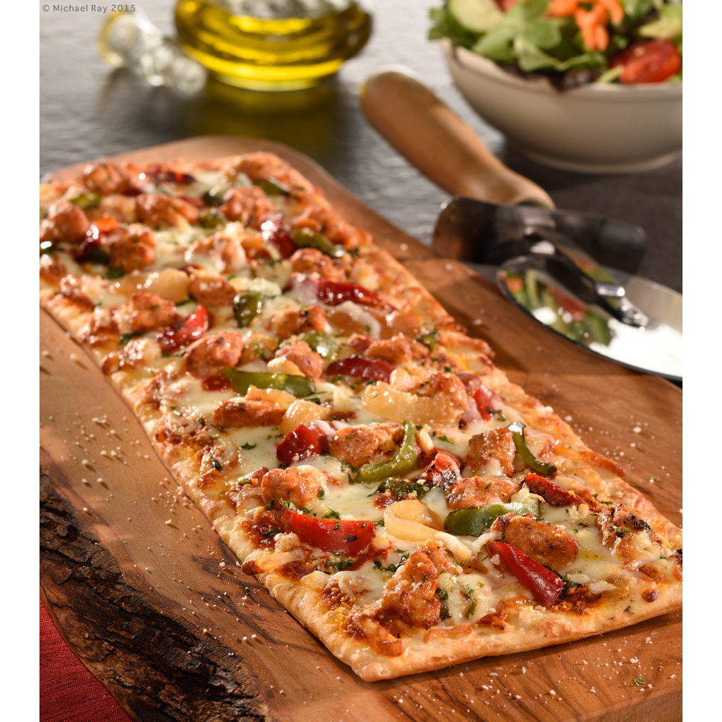 Food Photography of Flat Bread Pizza