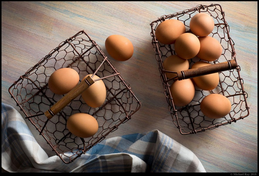 food photography of eggs