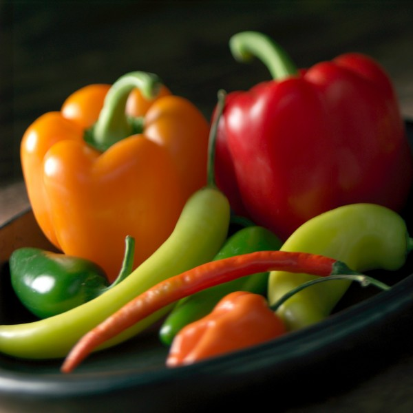 food photography still life - peppers