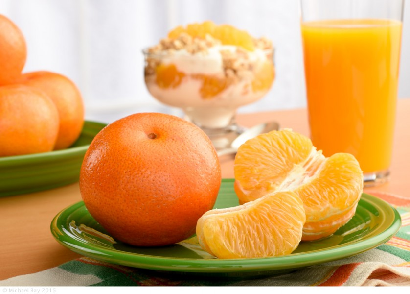 Food Photography of Tangerines