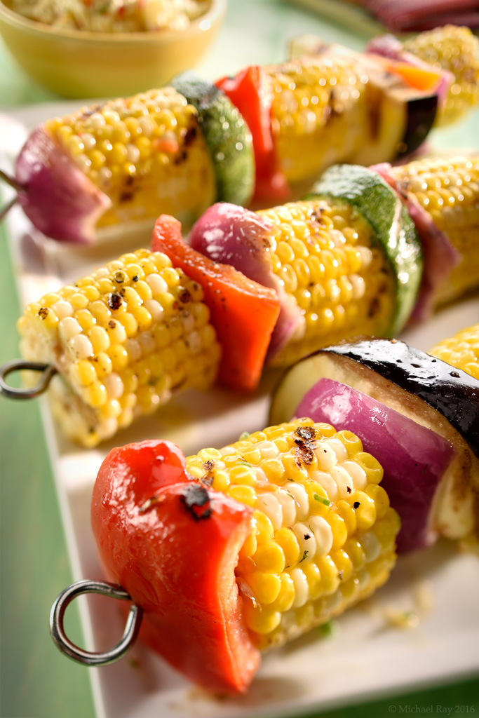 Photographing corn on the cob, a summertime favorite