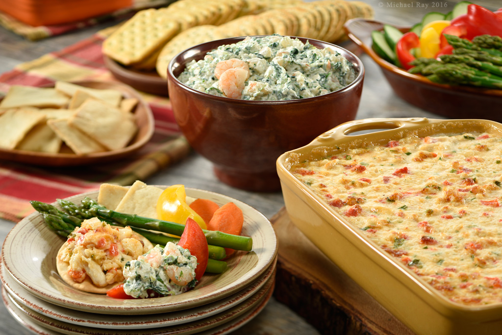 Photo of two seafood dips