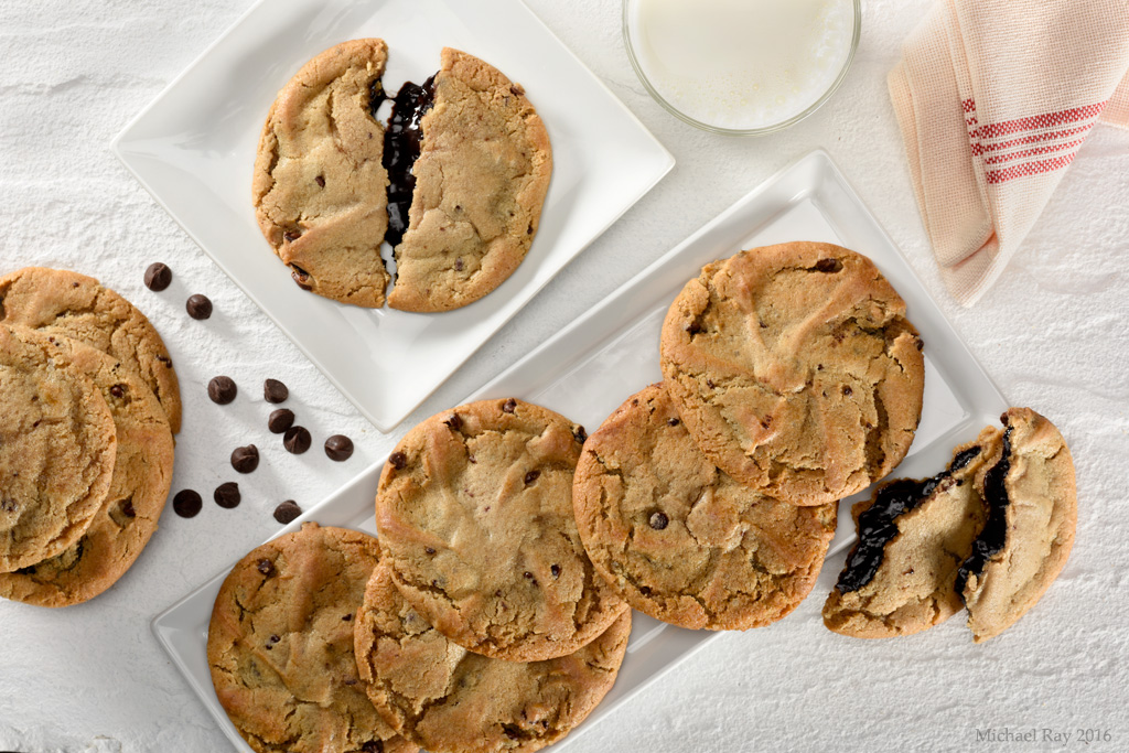 Food Photography of Chocolate Chip Cookies and Scones