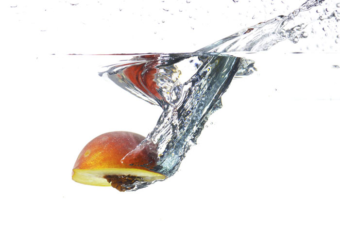 unretouched splash food photo