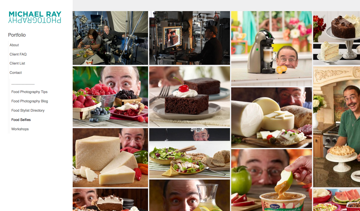 food photography selfies