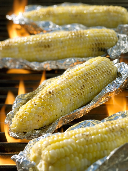 food photography corn on grill