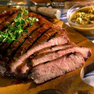 food photography of flank steak