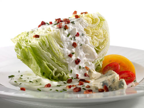 Food Photography of salad wedge