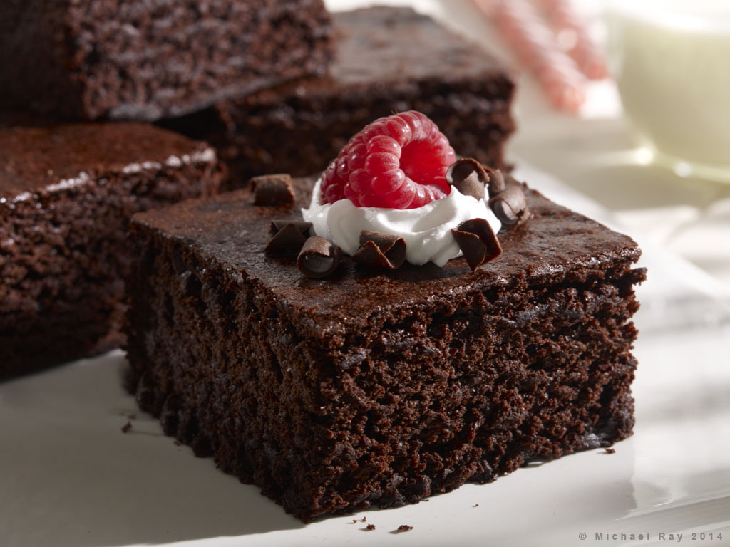 Food Photography of Chocolate Brownie