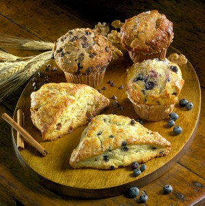 Food photography of scones