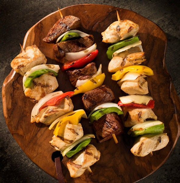 kabobs food photography