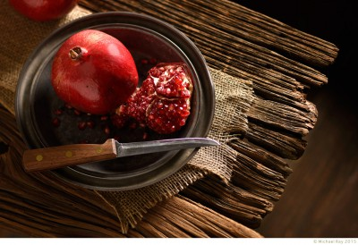 food photography of pomegranate
